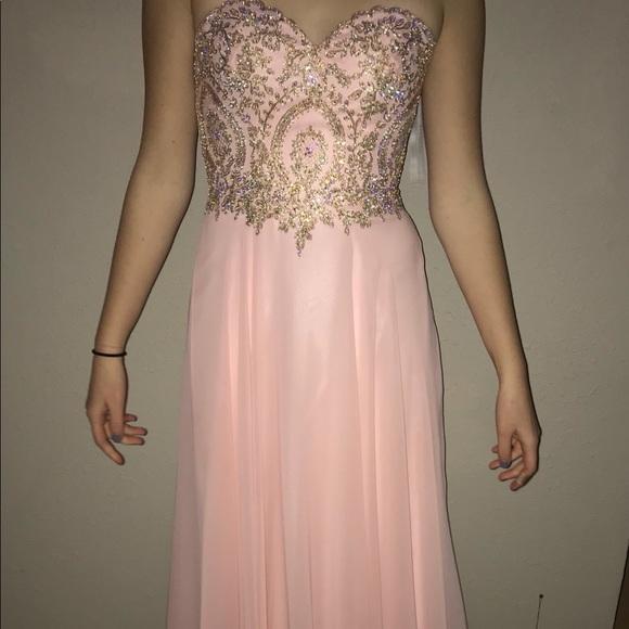 clarisse Dresses | Rose Gold Womens Prom Dress Size 12 | Poshmark
